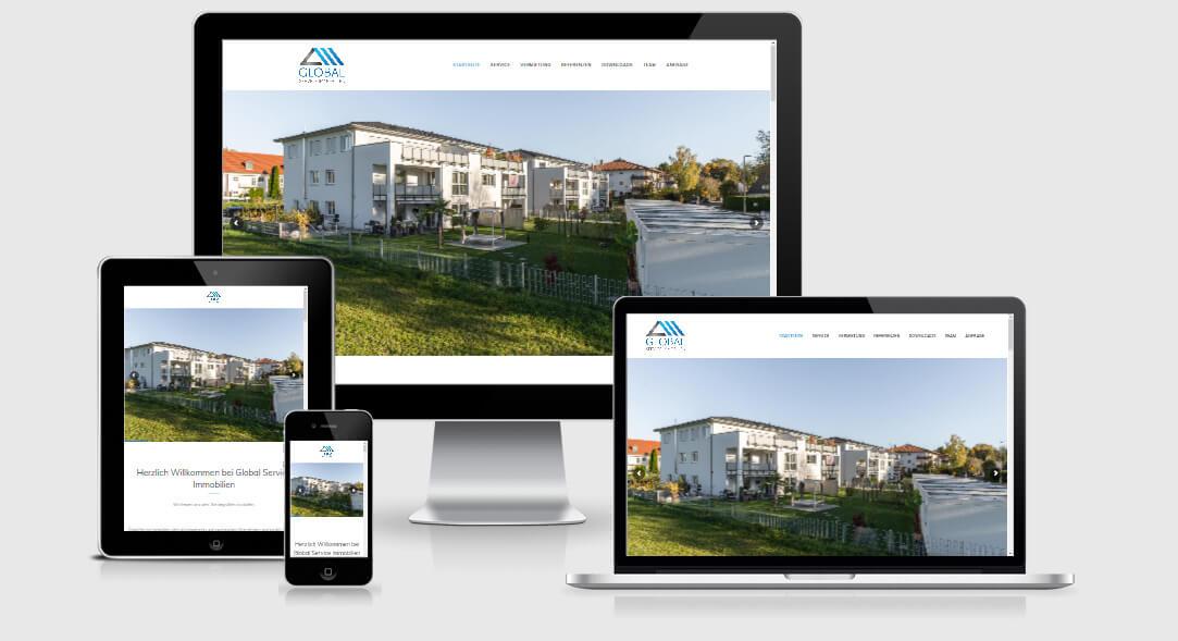 Webdesign Global Immobilien Lauingen